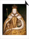Queen Elizabeth I in Coronation Robes, circa 1559 Poster