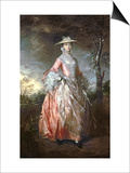 Mary, Countess Howe, circa 1763-4 Posters by Thomas Gainsborough