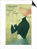 Portrait of Sarah Bernhardt Print by Manuel Orazi