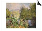 A Corner of the Garden at Montgeron, 1876-7 Affiches par Claude Monet