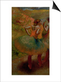 Dancers Wearing Green Skirts, circa 1895 Posters by Edgar Degas