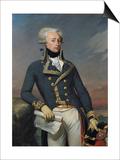 Portrait of Gilbert Motier (1757-1834) the Marquis De La Fayette as a Lieutenant General, 1791 Poster by Joseph Desire Court