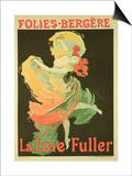 "Reproduction of a Poster Advertising ""Loie Fuller"" at the Folies-Bergere, 1893 Art by Jules Chéret"