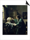 The Astronomer, 1668 Prints by Jan Vermeer