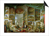 Gallery of Views of Ancient Rome, 1758 Art by Giovanni Paolo Pannini