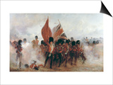Scots Guards Saving the Colours at Alma, 1854, 1899 Poster by Lady Butler