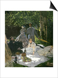 Dejeuner Sur L'Herbe, Chailly, 1865 (Central Panel) Posters by Claude Monet
