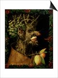 Winter, 1573 Posters af Giuseppe Arcimboldo