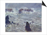 Storm, off the Coast of Belle-Ile, 1886 Posters by Claude Monet