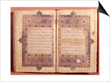 Two Pages from a Koran Manuscript Prints