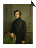 Charles-Alexis-Henri Clerel De Tocqueville (1805-59) 1850 Poster af Theodore Chasseriau