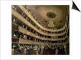 The Auditorium of the Old Castle Theatre, 1888 Poster von Gustav Klimt