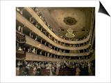 The Auditorium of the Old Castle Theatre, 1888 Posters van Gustav Klimt