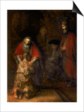 Return of the Prodigal Son, circa 1668-69 Poster by  Rembrandt van Rijn