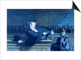 Scene at a Tribunal Prints by Honore Daumier