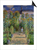 The Artist's Garden at Vetheuil, 1880 Prints by Claude Monet