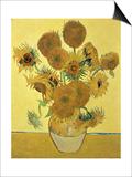 Vierzehn Sonnenblumen in einer Vase, 1888 Kunstdrucke von Vincent van Gogh
