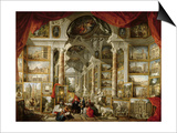 Gallery with Views of Modern Rome, 1759 Posters par Giovanni Paolo Pannini
