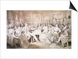 An Evening at Baron Von Spaun's: Schubert at the Piano Among His Friends Prints by Moritz Ludwig von Schwind