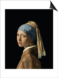 Girl with a Pearl Earring, circa 1665-6 Posters by Jan Vermeer