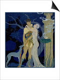 Venus and Adonis Prints by Georges Barbier