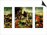 Triptych: the Temptation of St. Anthony Prints by Hieronymus Bosch