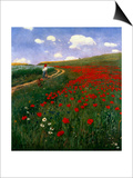 The Poppy Field Prints by Paul von Szinyei-Merse