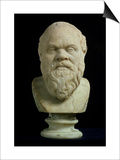 Portrait Bust of Socrates, Copy of Greek Early 4th Century BC Original Posters