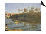 Max Schmitt in a Single Scull, 1871 Prints by Thomas Cowperthwait Eakins