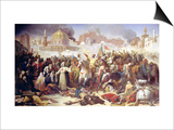 Taking of Jerusalem by the Crusaders, 15th July 1099, 1847 Print by Emile Signol