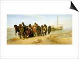 The Boatmen on the Volga, 1870-73 Art by Ilya Efimovich Repin