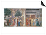 The Queen of Sheba Worshipping the Wood of the True Cross Prints by  Piero della Francesca