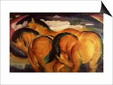 Little Yellow Horses, 1912 Posters by Franz Marc