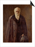 Portrait of Charles Darwin Posters by John Collier