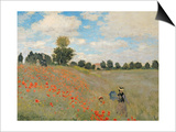 Wild Poppies, Near Argenteuil (Les Coquelicots: Environs D'Argenteuil), 1873 Prints by Claude Monet