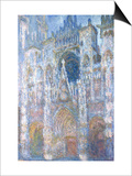 Rouen Cathedral, Blue Harmony, Morning Sunlight, 1894 Posters by Claude Monet