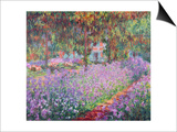 The Artist's Garden at Giverny, 1900 Posters by Claude Monet