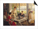 Women Taking Tea Posters by Albert Lynch