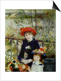 Two Sisters, or on the Terrace, 1881 Posters by Pierre-Auguste Renoir