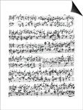 Music Score of Johann Sebastian Bach Posters
