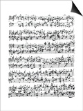 Partitura Johann Sebastian Bach Pósters