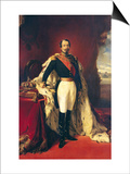 Portrait of Napoleon III (1808-73) Emperor of France Art by Franz Xavier Winterhalter