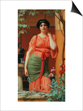 Nerissa, 1906 Prints by John William Godward
