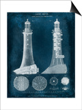 Lighthouse Blueprint Prints by  Vision Studio