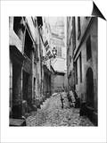 Rue Du Haut Moulin, from Rue De Glatigny, Paris, 1858-78 Posters by Charles Marville