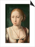 "Juana or Joanna of Castile, Called ""The Mad"" (1479-1555) Daughter of Ferdinand II of Aragon Posters by Juan de Flandes"