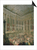 Recital by the Young Wolfgang Amadeus Mozart in the Redoutensaal Print by Martin van Meytens