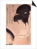 Woman Putting on Make-Up Prints by Kitagawa Utamaro