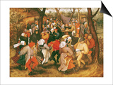 The Wedding Dance, 1607 Art par Pieter Brueghel the Younger