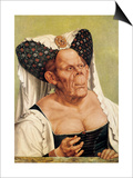 A Grotesque Old Woman, Possibly Princess Margaret of Tyrol, circa 1525-30 Prints by Quentin Metsys